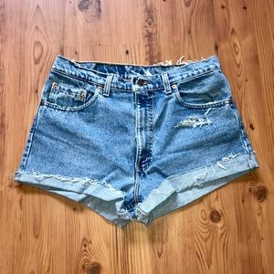 Vintage high waisted 550 Levi's Distressed Cutoffs